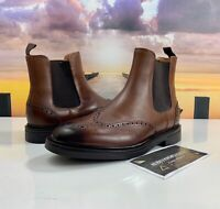 Polo Ralph Lauren Vibram Brown Leather Asher Chelsea Wingtip Boots Men's 8.5, 13