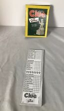 The Simpsons Clue Mystery Detective Board Game replacement score sheet 20+ sheet