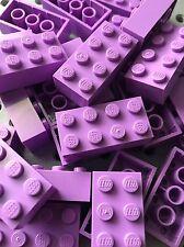 Lego Medium Lavender 2x4 Bricks Blocks Building Wall Friends Lot Of 25