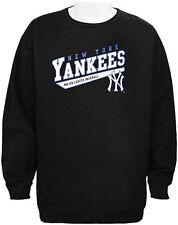New York Yankees MLB Majestic Crampton Charcoal Sweatshirt Men Big Sizes