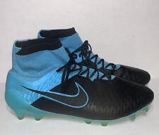 🔥 RARE -Nike Magista Obra Leather FG Black Blue Tech Craft 747496-004 Men's 12