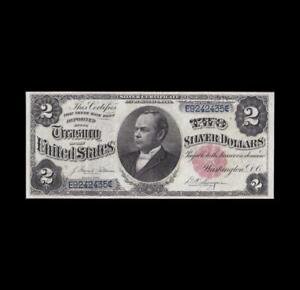 BEAUTIFUL 1891 $2 SILVER CERTIFICATE WINDOM NOTE STRONG VERY FINE
