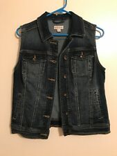 Ladies Target Blue Denim Jean Jacket Vest Button up Sz Sm NWOT