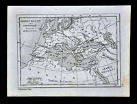 1835 Levasseur Map - Roman Empire Constantine to Diocletian - Europe Italy Rome