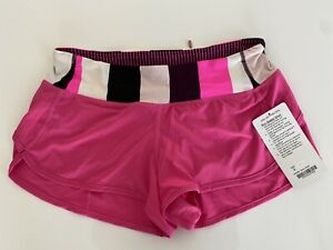 NWT New Lululemon Run Speed Short Raspberry Glow Pink Size 6 Free Shipping