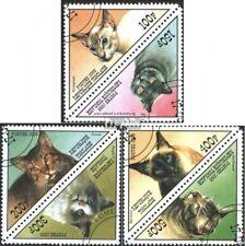 Togo 2868-2873 Couples oblitéré 1999 chats de races