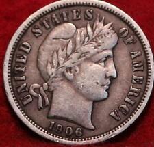 1906-S San Francisco Mint Silver Barber Dime