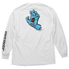 Santa Cruz Screaming Hand Long Sleeve Skateboard Shirt White Xxl