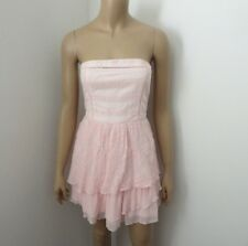 NWT Abercrombie Womens Strapless Pink Lace Embroidered Dress Size Small