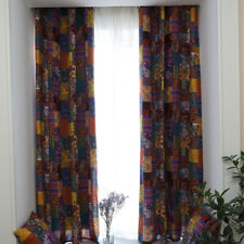 1 Panel Bohemian Ethnic Style Curtains Cotton Linen Fabric Half Blackout Decor