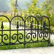 Plastic Fencing Garden Lawn Grass Border Edging Picket Fence - Interlocking
