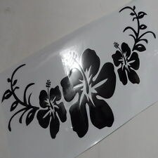 Car Hawaiian Hibiscus Flower Headlight Black Decal Vinyl Hood sticker CG231 2pcs