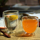 Handmade Heat Resistant Double Wall Glass Tea Drink Mugs Cups