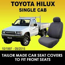 Custom Made Charcoal Car Seat Covers To Fit TOYOTA HILUX SINGLE CAB 1997-2015