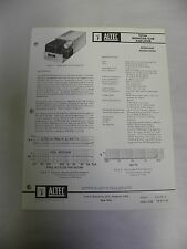 Original Vintage Altec Model 9476A Monitor Cue Amp Spec Specification Sheet (A3)