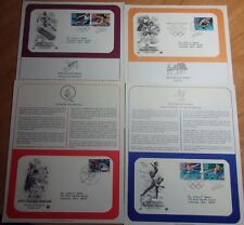 4 Diff Cachets Saluting The 1992 Olympic Games In Albertsville France Barc Spain