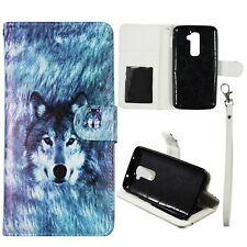 S Leather Wallet Snow Wolf Hunting Case for LG Optimus G2 D802 Cover :