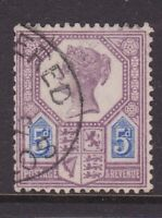 GREAT BRITAIN QV 1888 5d DULL PURPLE & BLUE DIE II FINE USED SG207a  (HF91.6)