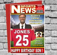 Personalised Liverpool Fan Birthday Card! ANY NAME - AGE - RELATIVE - AMAZING!!