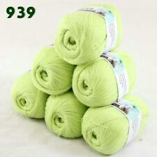 Sale Lot of 6 balls x 50g LACE Soft Acrylic Wool Cashmere hand knitting Yarn 939