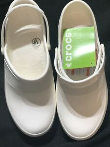 CROCS Women's Size 9 White MErcy Work Roomy Fit Clogs NEW