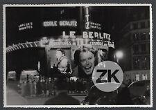 GERARD PHILIPE Till L'Espiègle PARIS Cinéma BY NIGHT Le BERLITZ Photo 1956