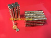 "50 Large 12 x 3mm (Aprox 1/2"" x 1/8"") Neodymium Disc Magnets Strong Rare Earth"