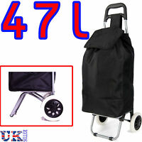 New EAGLE 47L Black Light weigh 2 Wheel Shopping Trolley waterproof Cart Bag
