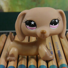 "IN HAND LPS  CHOLOCATE Dachshund DOG FIGURE 2"" #932 Littlest pet shop"