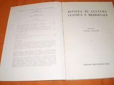 rivista di cultura classica e medievale  1,68