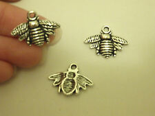 10 bee charms pendants tibetan silver antique jewellery making wholesale UK-02