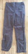 SPANNER Ash Brown Cotton Slim Crop Pants w/ Cinched Gathered Ankle - Size Small