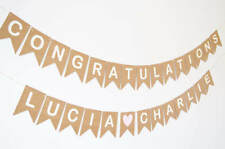Congratulations Banner Personalised Engaged Engagement Party Decoration Wedding
