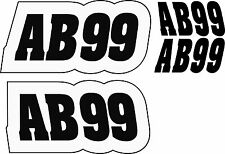 Autograss Numbers Signs Graphics Stickers