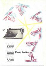 OLIVETTI LEXIKON DESIGN MACCHINA DA SCRIVERE CARRELLO MONOGUIDA MANI PENNE 1953