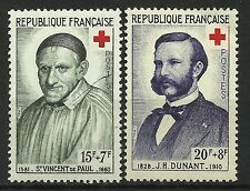 France Croix Rouge St Vincent de Paul Henri Dunant Red Cross Rote Kreuz ** 1958