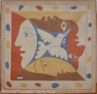 PICASSO*FOULARD*HISTORIQUE*1951*PAIX*BERLIN*RARE*MUSEE*ART*MUSEUM*PEACE*WORLD*MY