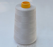 1 SPOOL GRAY 100%  POLYESTER SERGER QUILTING THREAD T27 6000 YARDS #676