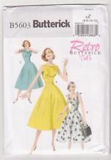 Butterick Sewing Pattern B5603 Miss Retro '56 Easy Dress Sz 6-12