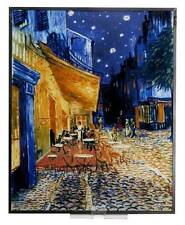 "VAN GOGH ""CAFE TERRACE AT NIGHT"" STAINED ART GLASS WINDOW PANEL HANGING DISPLAY"