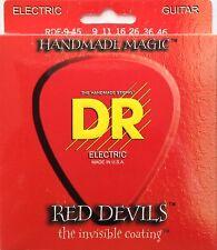 DR RDE-9/46 Red Devils Coated Electric Guitar Strings 9-46 gauge