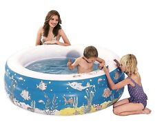 Aquafun Doodle Inflatable Pool | Kids Wading Splash Pools, Crayons Included
