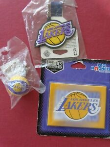 NBA Los Angeles Lakers L'IL BRAT BASKETBALL and 3-D Style Key Chain and MAGNET