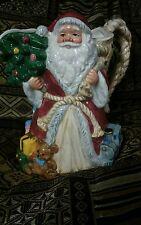 Fitz & Floyd Omnibus Christmas Santa Clause 1-1/2Qt Pitcher 1994