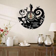 The Nightmare Before Christmas Vintage Black Vinyl Record Clock Home Decor