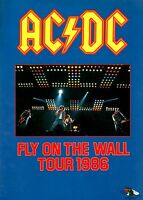 AC/DC 1986 FLY ON THE WALL TOUR PROGRAM BOOK / BRIAN JOHNSON / ANGUS YOUNG
