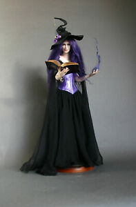 OOAK Witch Sculpture by Phyllis Morrow of Pgm Sculpting