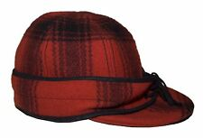 Polo Ralph Lauren Rugby Mens Wool Hunting Hat Cap Earflap Plaid Red Black M/L