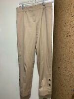 ESCADA Beige Topper Ankle Button Detailed Trouser Pants Size 34 US 4
