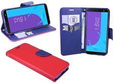 Book Style Móvil funda estuche en rojo para Samsung Galaxy J6 2018 (j600f) @